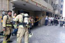 آتش سوزی برج 10 طبقه مسکونی در محدوده سعادت آباد