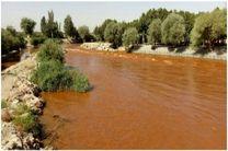 آب زاینده رود در محدوده شهرستان مبارکه قرمز شد