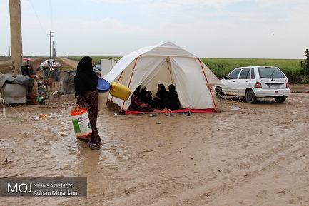 سیل در منطقه چم العبید خوزستان
