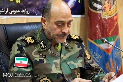 نشست خبری ارشد نظامی ارتش در منطقه اصفهان