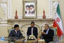 دیدار وزیر خارجه عمان با رییس مجلس