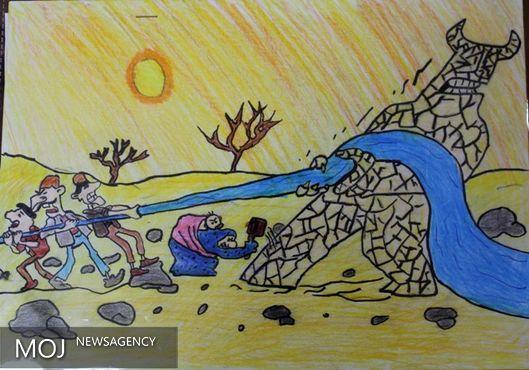 """ارسال بیش از ۲۰۰۰ اثر به مسابقه نقاشی """"آب =زندگی"""" در کردستان"""