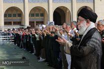 اقامه نماز عید فطر توسط حضرت آیت الله خامنه ای