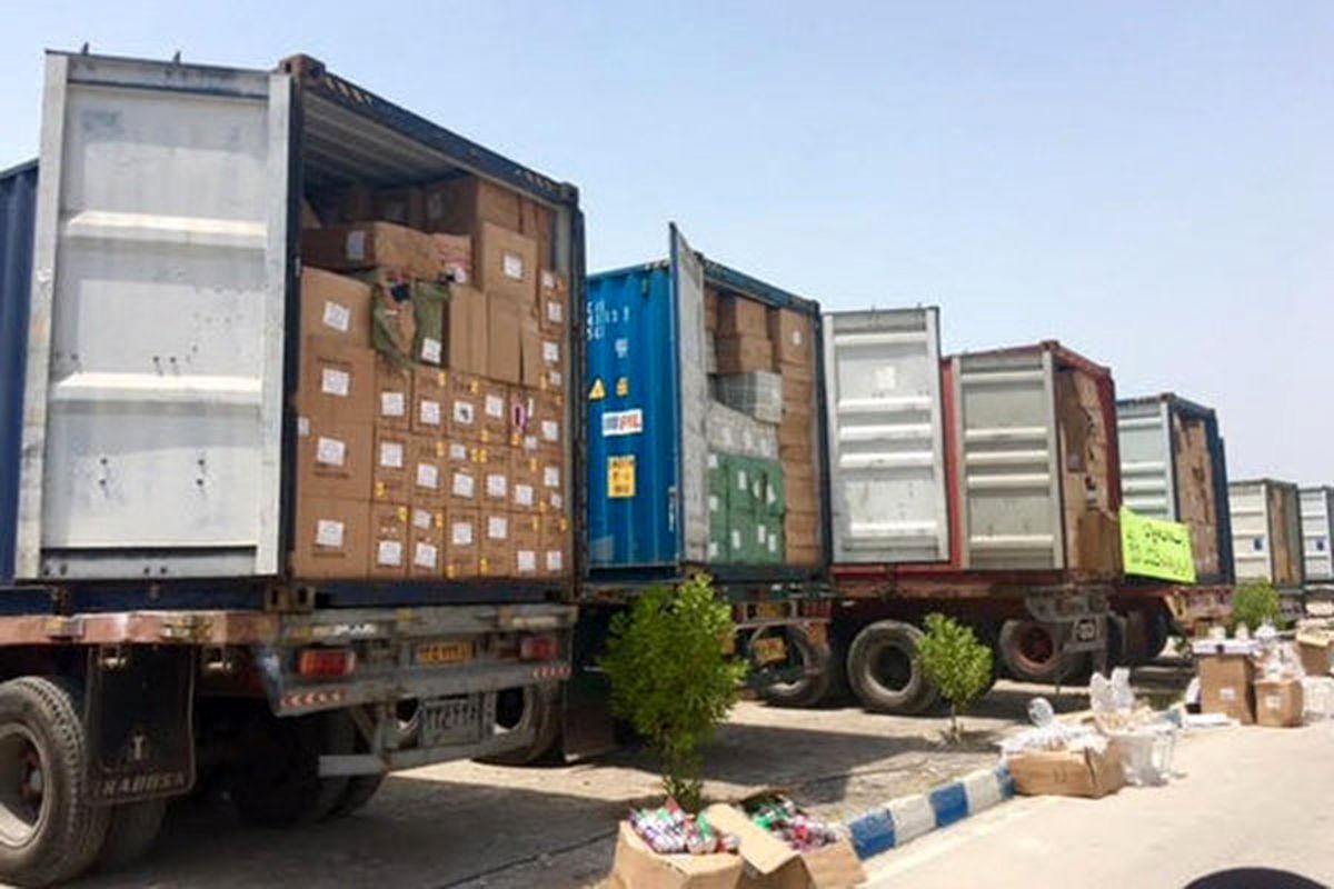 ۷۵۸ قلم کالای قاچاق از داشبورد یک کامیون کشف شد