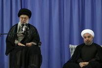 آغاز بیانات رهبر انقلاب در مراسم تنفیذ رئیسجمهور