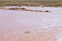 آبگیری 2 سیلاب و بند خاکی در شهرستان اردستان
