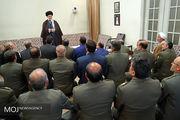 دیدار فرماندهان نیروی زمینی ارتش با مقام معظم رهبری
