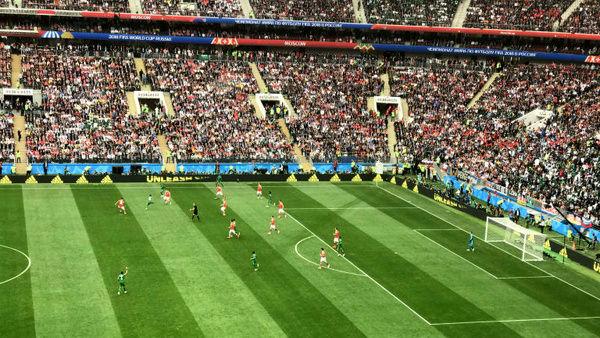 پیروزی روسیه مقابل عربستان در نیمه نخست