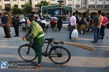 طولانی_ترین+سفره+افطار+ساده+در+بازار+تهران