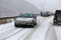 بارش برف در جاده های البرز