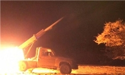 حمله موشکی یمن به مواضع شبه نظامیان سعودی در تعز