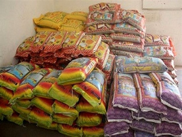 کشف ۳۳ تن برنج قاچاق در شهرستان بندرخمیر