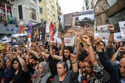 راهپیمایی اعتراضی در سالگرد حوادث پارک گزی