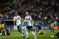 نتیجه بازی آلمان و سوئد در جام جهانی/ بازگشت آلمان ها به جام جهانی با شوت تونی کروس