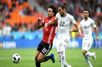 نتیجه بازی اروگوئه و مصر در جام جهانی/ خیمنز اروگوئه را به گل رساند