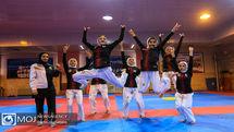 تمرین تیم ملی تکواندو دختران نوجوان