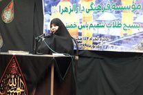 اهدای کمک های مومنانه توسط موسسه فرهنگی وحوزه علمیه دارالزهراء در خمینی شهر