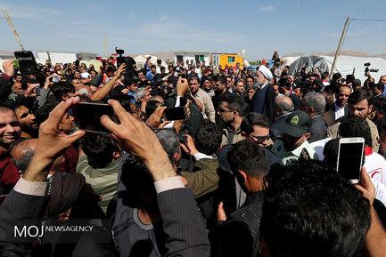 بازدید رییس جمهوری از مناطق زلزله کرمانشاه در آستانه نوروز ۹۷