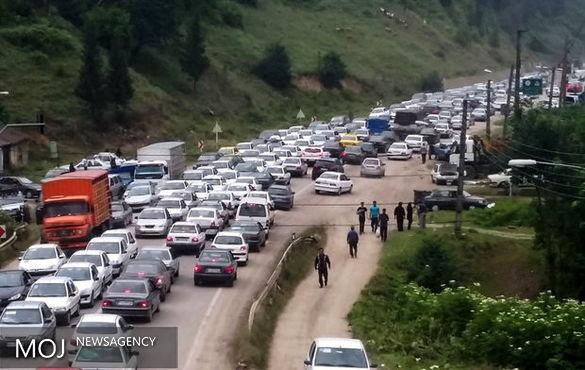 ترافیک سنگین و نیمه سنگین در محورهای شمالی کشور