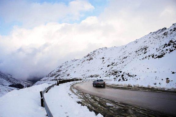 بارش برف و باران در محورهای البرز و مازندران