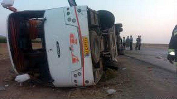 آخرین وضعیت واژگونی اتوبوس مهارلو اعلام شد