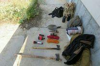 دستگیری چهار متخلف حفاری در پارک ملی گلستان