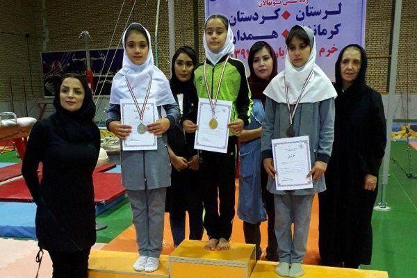 نایب قهرمانی دختران ژیمناستیک کار کردستانی در رقابت های غرب کشور