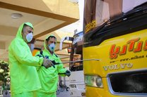 ضدعفونی کردن خطوط جادهای و ریلی در استان اصفهان