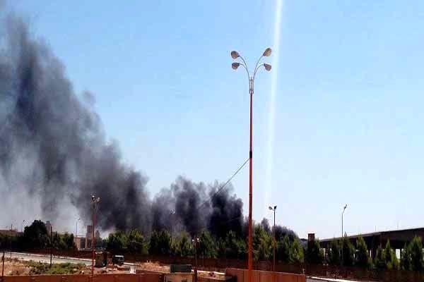 داعش چاههای نفت القیاره را به آتش کشید