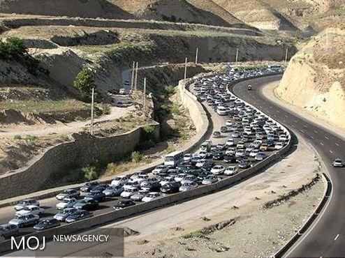ترافیکی سنگین در جاده چالوس و فیروزکوه