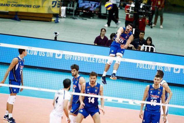 لانزا امتیاز آورترین بازیکن دیدار والیبال ایران با ایتالیا