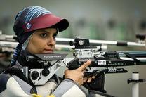 رتبه ششم الهه احمدی در تفنگ سه وضعیت در رده بندی جهانی