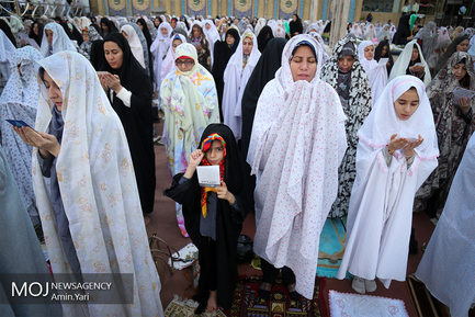 برگزاری نماز عید سعید فطر ۱۳۹۷ در امامزاده صالح تهران