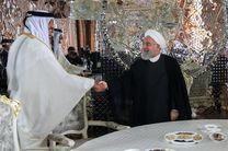روحانی با امیر قطر دیدار کرد