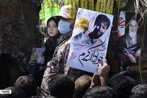تشییع پیکر شهید مدافع حرم «جواد الله کرم» در تهران