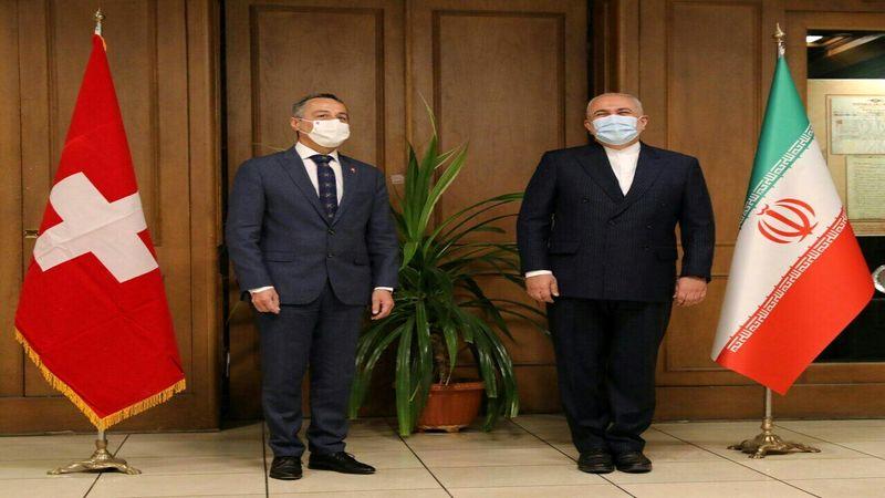 آغاز دور اول گفتگوی ظریف با وزیر خارجه سوئیس