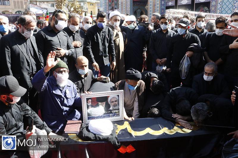 مراسم تشییع پیکر مرحوم روح الله حسینیان برگزار شد