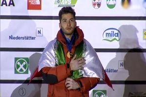 درخشش یخ نورد اصفهانی در مسابقات جام جهانی ایتالیا