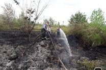 پوشش ۱۴ مورد اطفای آتش سوزی علفزارها و جنگل