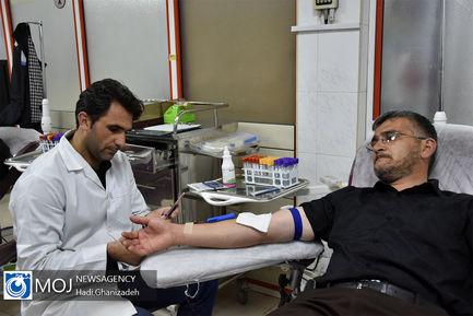 اهدای خون در شب های ماه مبارک رمضان در اردبیل