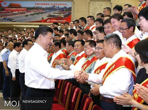 رئیس جمهور چین خواستار وحدت میان ارتش، دولت و مردم شد