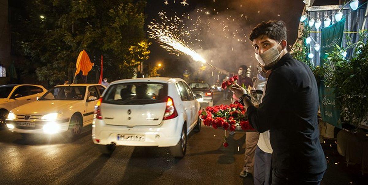 برگزاری جشن خیابانی به مناسبت میلاد امام حسن(ع) در غرب تهران