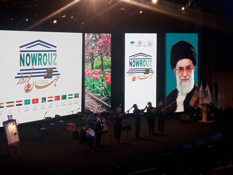 آیین بین المللی جهان نوروز با حضور ظریف آغاز شد