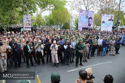 تشییع پیکر شهید مدافع حرم اکبر زوار جنتی در تبریز