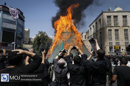 عزاداری ظهر عاشورای حسینی در چهارراه گلوبندک