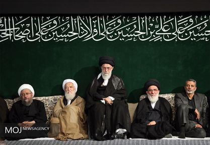اولین شب مراسم عزاداری حسینی با حضور مقام معظم رهبری