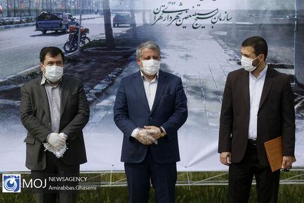 رزمایش ضدعفونی معابر شهر تهران