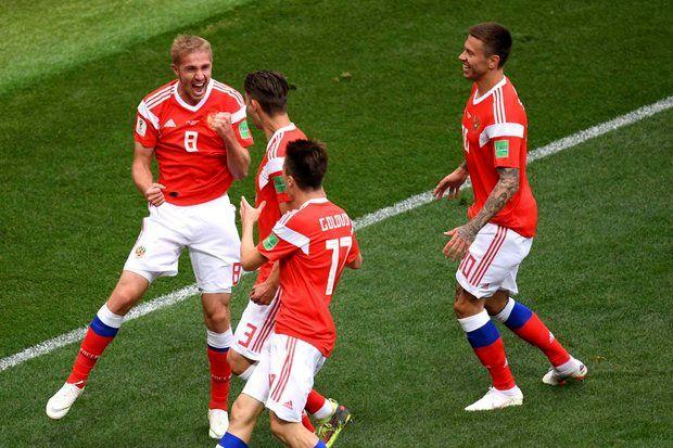 بازی روسیه عربستان 5 - 0 به پایان رسید/ روسیه برنده بازی افتتاحیه جام جهانی 2018 شد