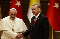 اردوغان امروز با پاپ دیدار می کند