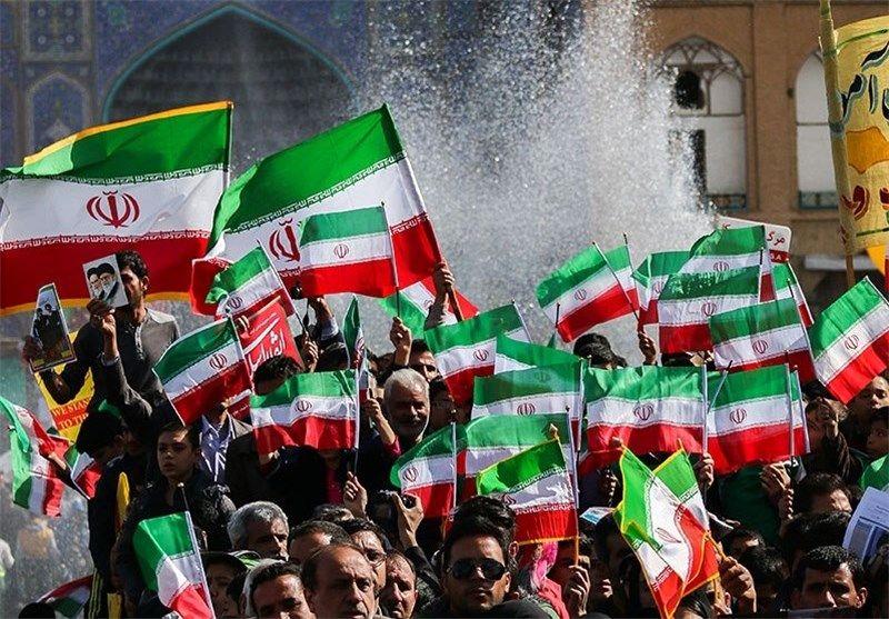 راهپیمایی پرشور 22 بهمن در اصفهان